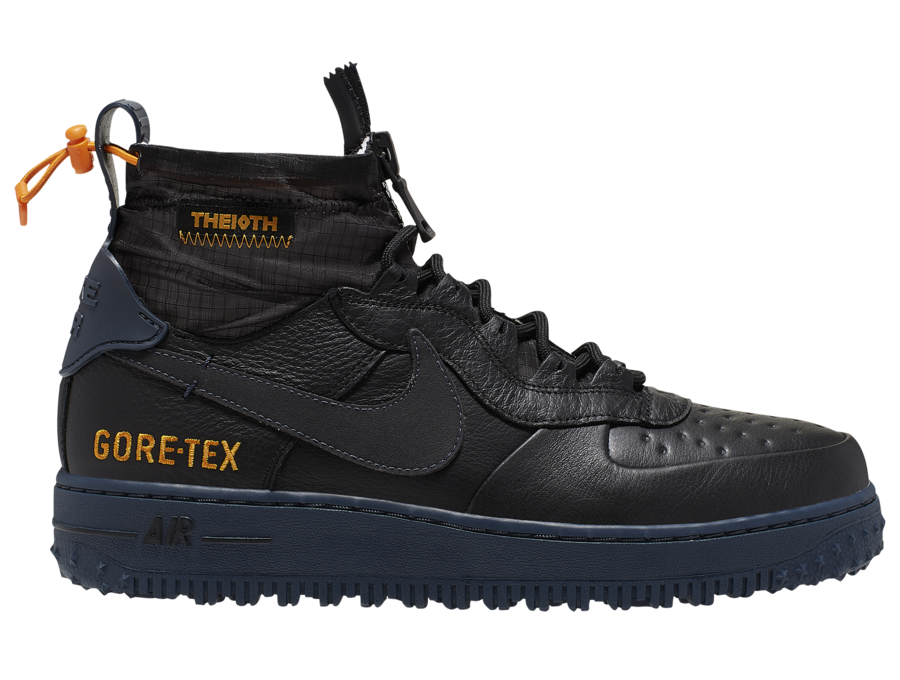 Nike Air Force 1 WTR Gore-Tex Black CQ7211-001 Release Date Info