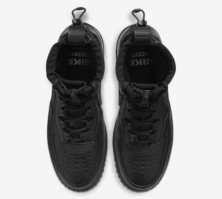 Nike Air Force 1 WTR Gore-Tex Triple Black CQ7211-003 Release Date
