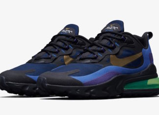 Nike Air Max 270 React Deep Royal Blue Gold AO4971-005 Release Date Info