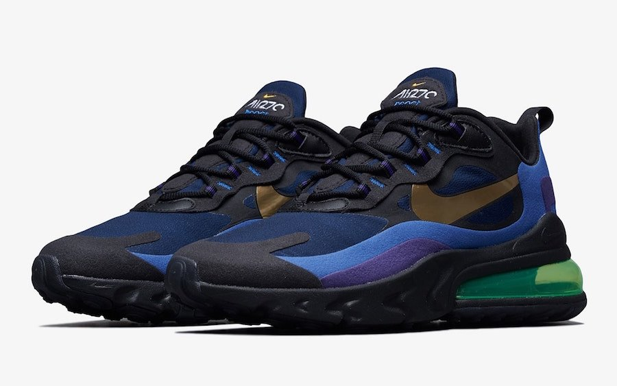 Nike Air Max 270 React Deep Royal Blue Gold AO4971-005 Release Date Info | SneakerFiles