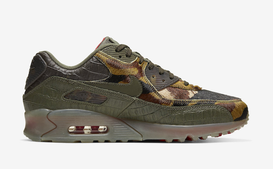 Nike Air Max 90 Animal Crocodile Print CU0675-300 Release Date Info