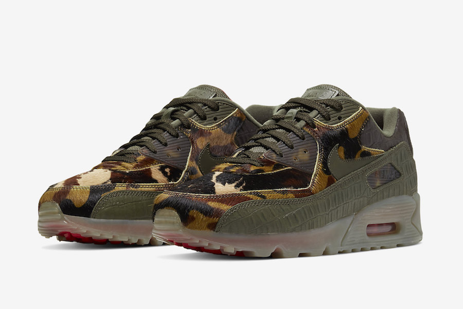 Nike Air Max 90 Animal Crocodile Print CU0675-300 Release Date Info