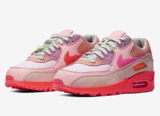Nike Air Max 90 Pink Purple Beige CT3449-600 Release Date Info