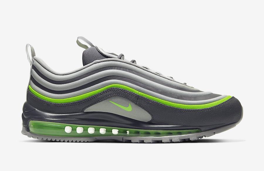 nike air max 97 grau neon green