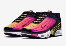 Nike Air Max Plus 3 Black Hyper Purple Optic Yellow CD6871-005 Release Date Info