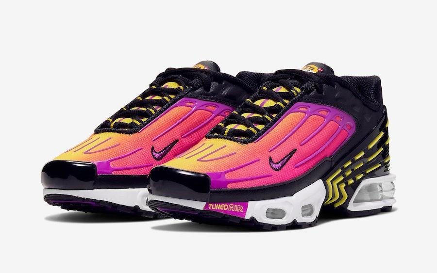 free shipping c284e 6dab7 Nike Air Max Plus 3 Hyper Purple Optic Yellow CD6871-005 ...