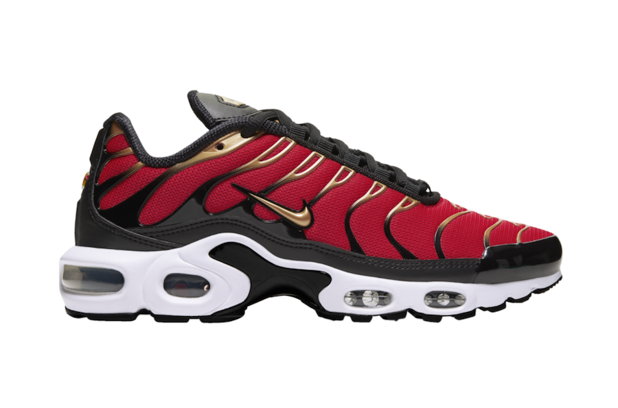 Nike Air Max Plus University Red Metallic Gold CU4919-600 Release Date Info
