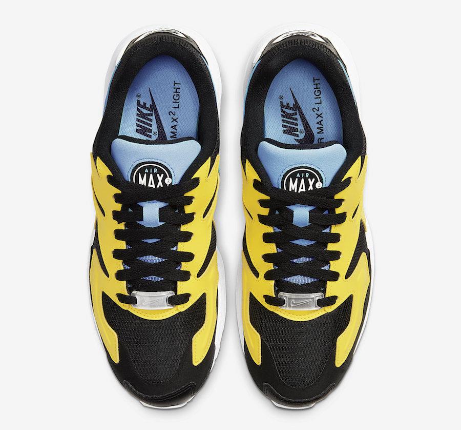 Nike Air Max2 Light Black Yellow Blue CJ7980-700 Release Date Info ...