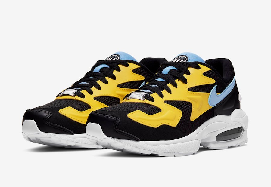 Nike Air Max2 Light Black Yellow Blue CJ7980-700 Release Date Info