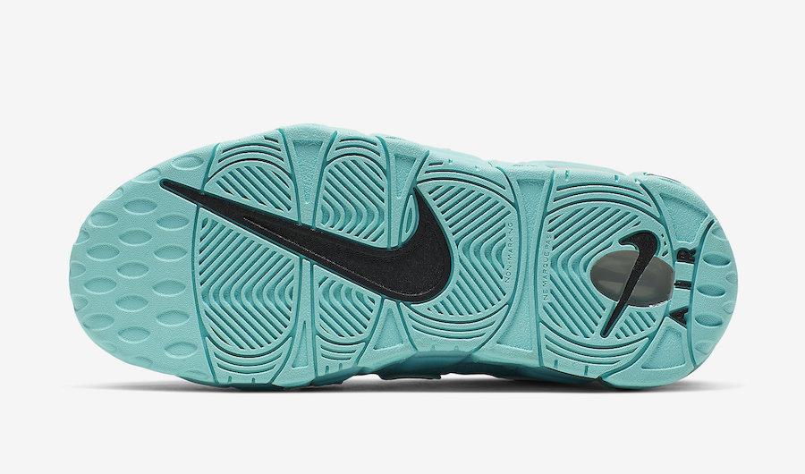 Nike Air More Uptempo GS Light Aqua 415082-403 Release Date