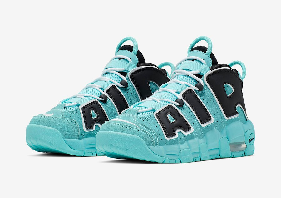 Nike Air More Uptempo GS Light Aqua 415082-403 Release Date