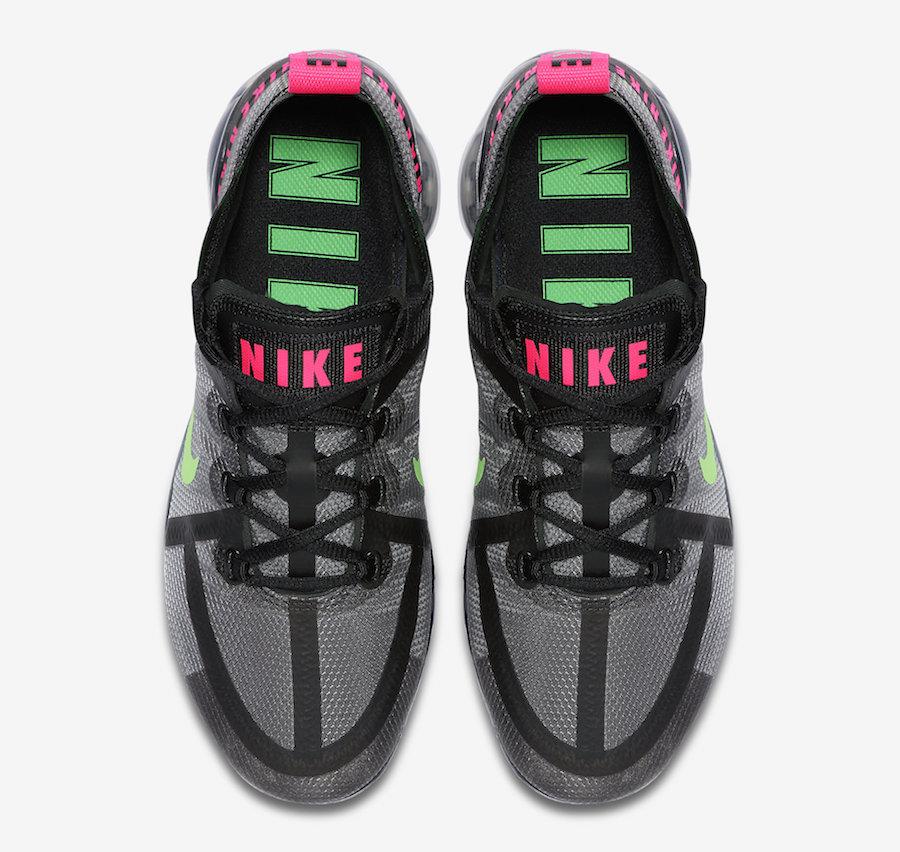 Nike Air VaporMax 2019 Black Hyper Pink Scream Green CQ4610-001 Release Date Info