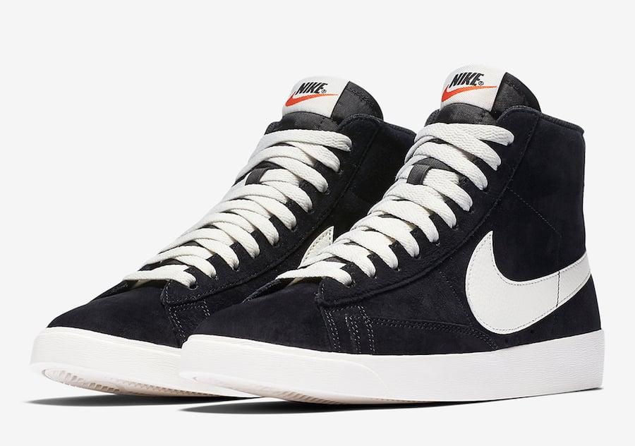 Nike Blazer Mid Black Suede AV9376-001 Release Date Info