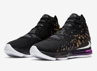 Nike LeBron 17 Lakers Purple Gold BQ3177-004 Release Info