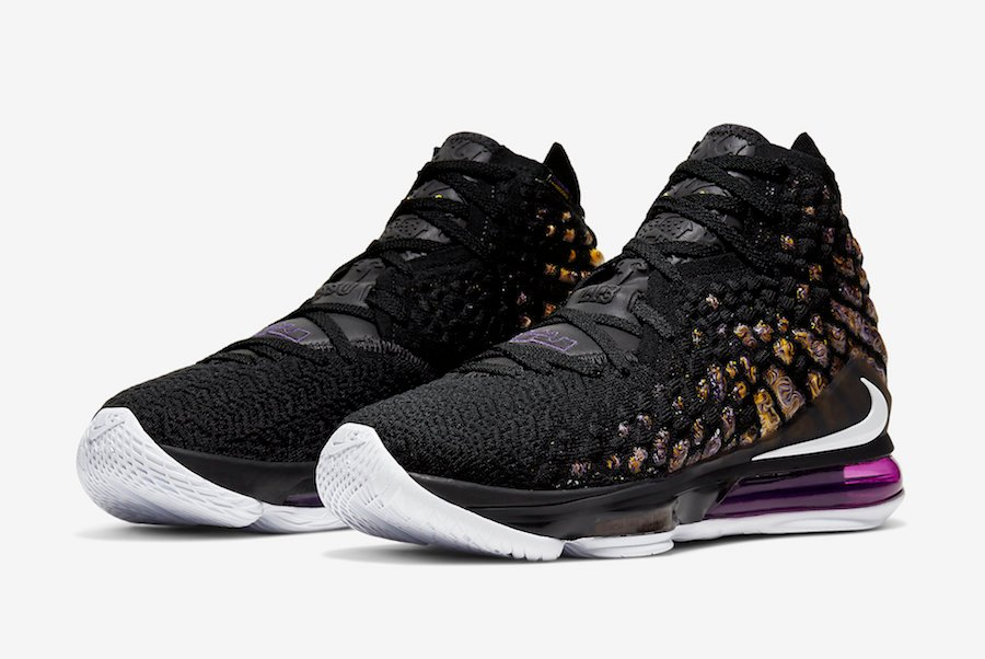 Nike LeBron 17 Lakers Purple Gold BQ3177-004 Release Info