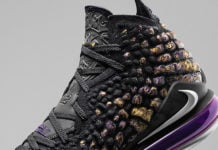 Nike LeBron 17 Lakers Purple Gold