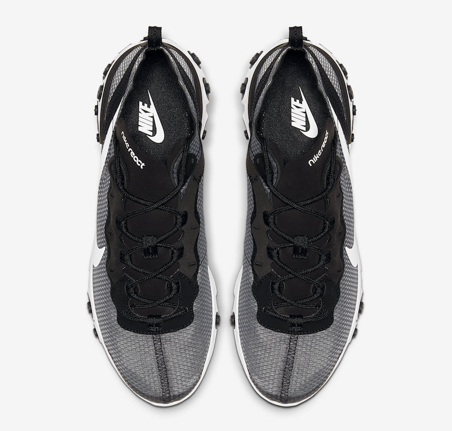 Nike React Element 55 Black White CI3831-002 Release Date Info