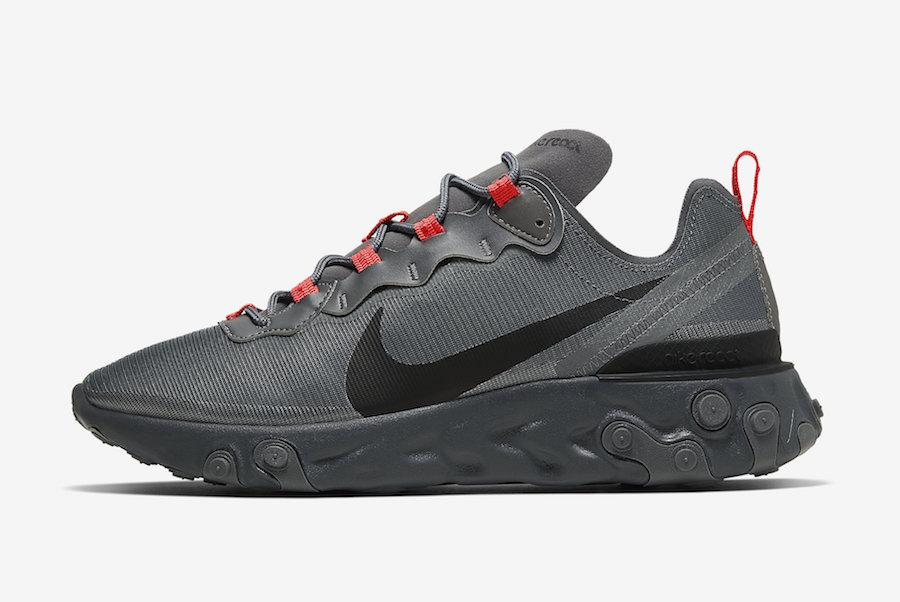 Nike React Element 55 Dark Grey CQ4809-001 Release Date Info