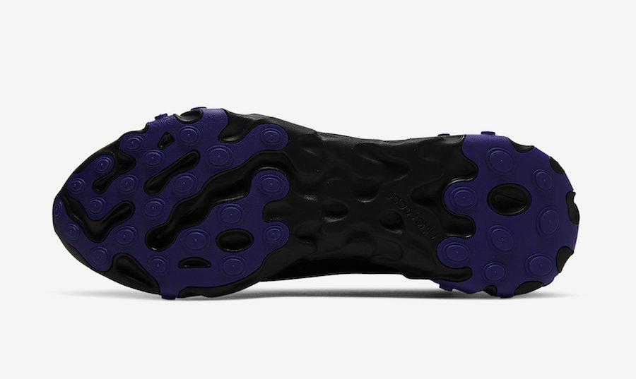 Nike React Ianga Black Light Aqua Anthracite Court Purple AV5555-002 Release Date Info