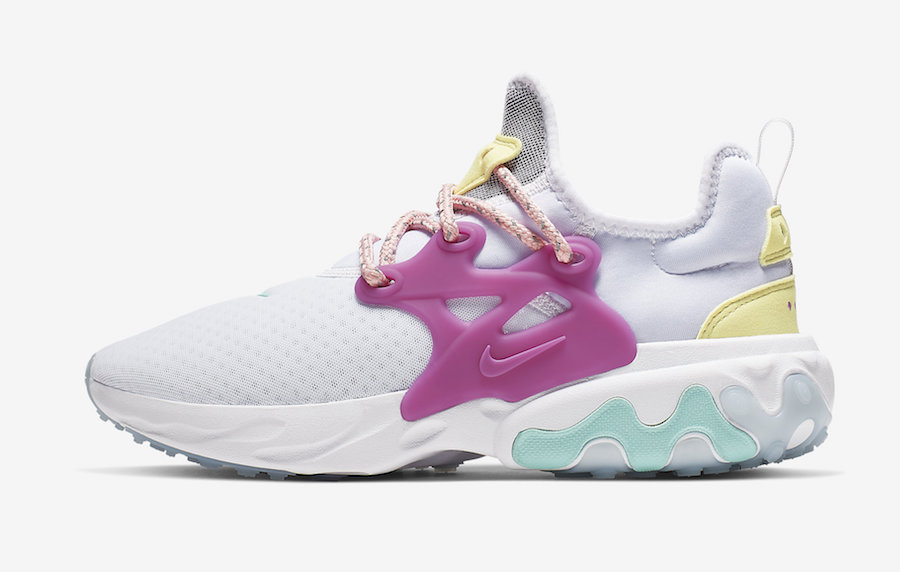 Nike React Presto WMNS Green Coral Violet CD9015-101 Release Date Info