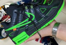 Off-White Nike Air Rubber Dunk Black Green Strike CU6015-001