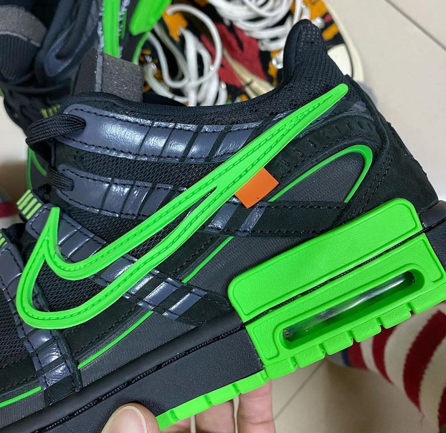 Off-White Nike Air Rubber Dunk Black Green Strike CU6015-001