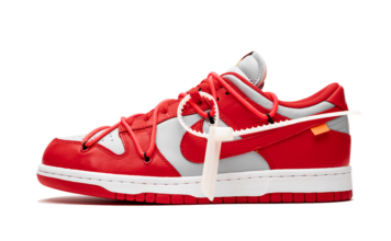 Off-White Nike Dunk Low University Red Wolf Grey CT0856-600 Release