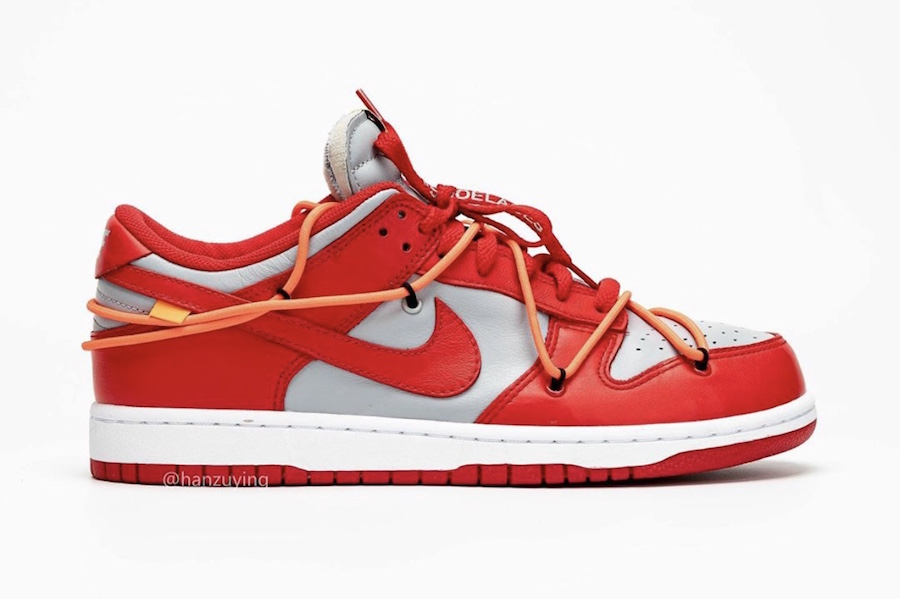 Off-White Nike Dunk Low University Red Wolf Grey CT0856-600 2019 Release Date Info