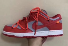 Off-White Nike Dunk Low University Red Wolf Grey CT0856-600