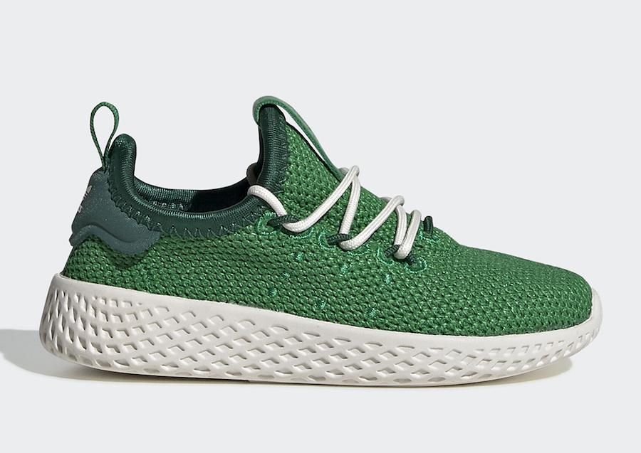 Pharrell adidas Tennis Hu Green FV0055 Release Date Info