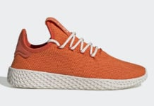 Pharrell adidas Tennis Hu Orange FV0053 Release Date Info