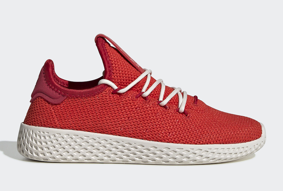 Pharrell adidas Tennis Hu Red FV0054 Release Date Info
