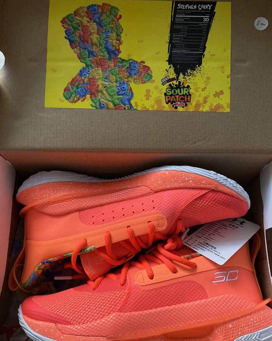 UA Curry 7 Sour Patch Kids Orange Release date Info