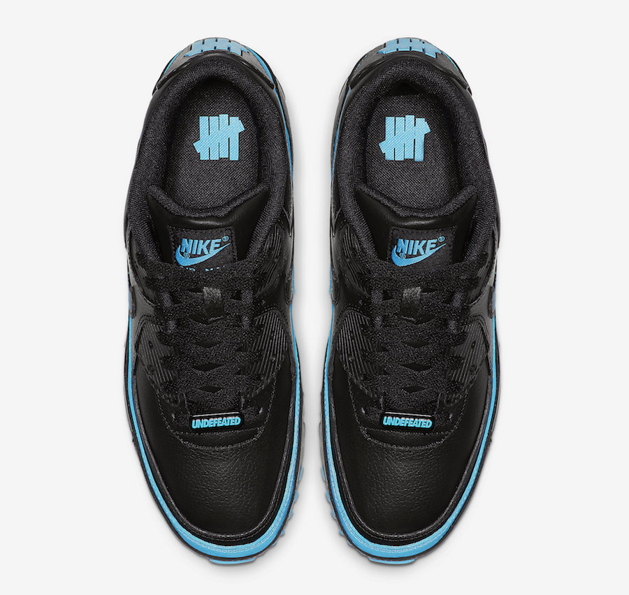 Undefeated Nike Air Max 90 Black Blue Fury CJ7197-002 Release Date Info