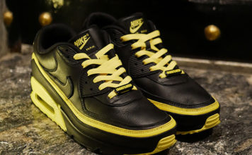 Undefeated Nike Air Max 90 Black Optic Yellow CJ7197-001 Release Date