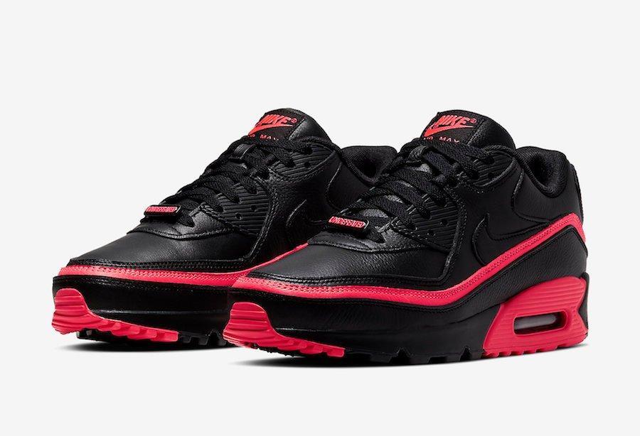 Undefeated Nike Air Max 90 Black Solar Red CJ7197-003 Release Date Info