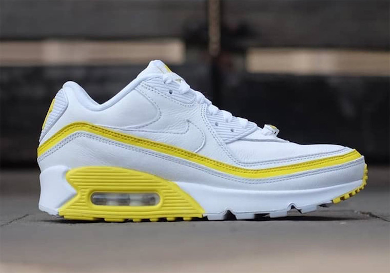 Undefeated Nike Air Max 90 White Optic Yellow CJ7197-101 Release Date Info