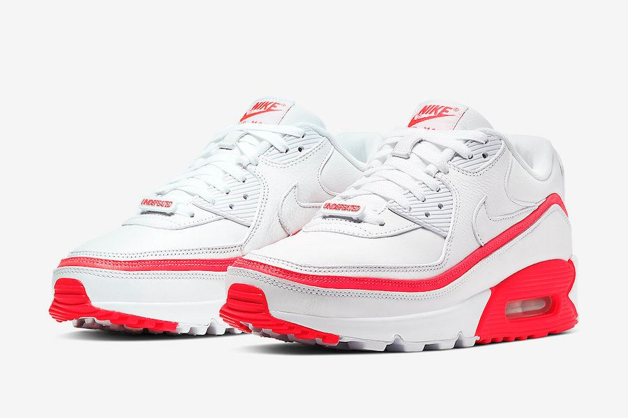 Undefeated Nike Air Max 90 White Solar Red CJ7197-103 Release Date Info