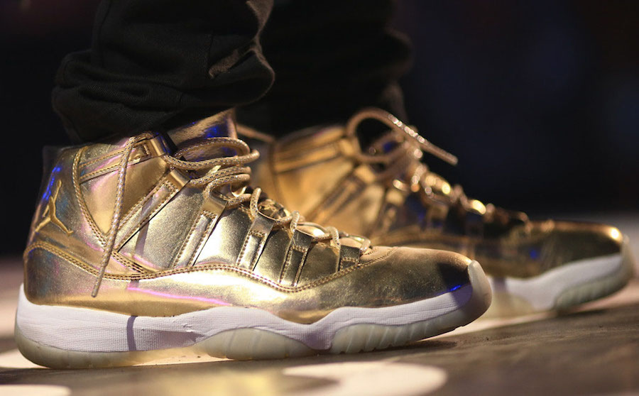 Usher Air Jordan 11 Gold Sample