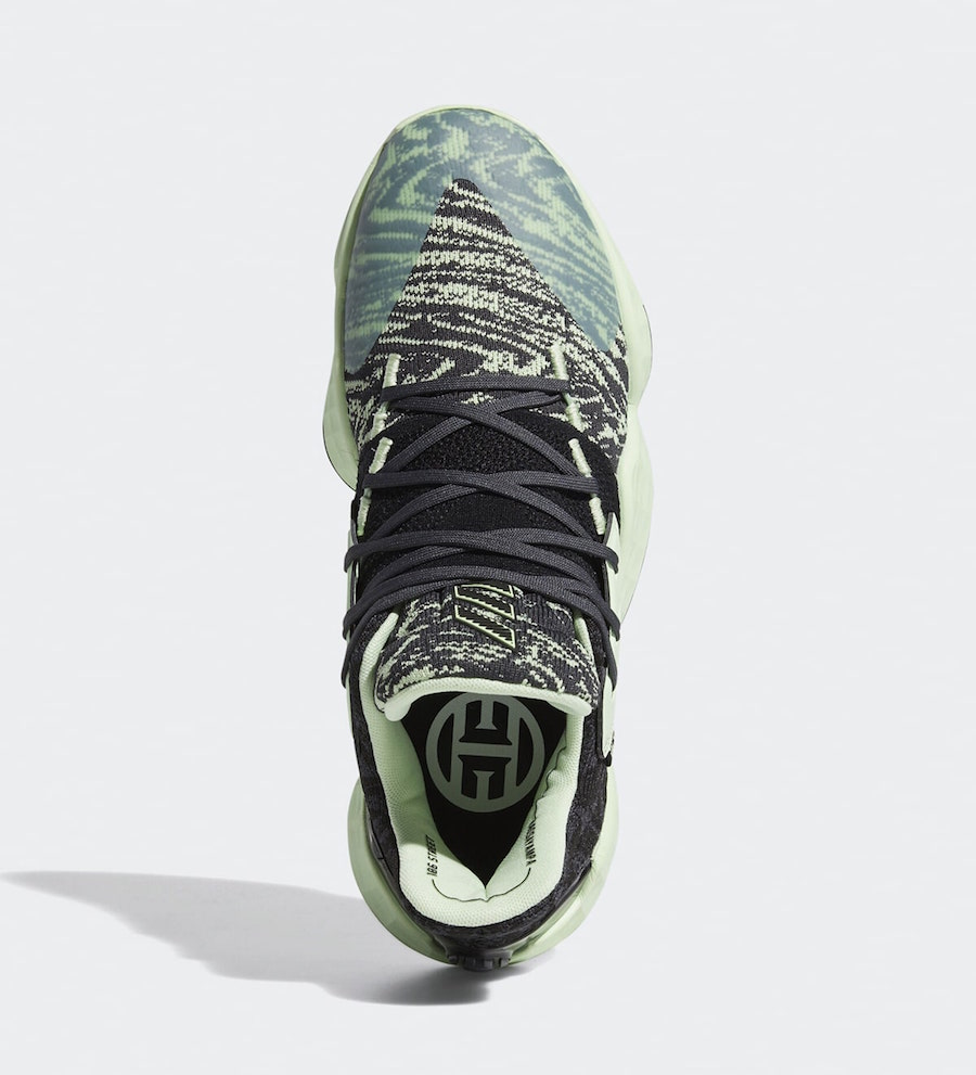 adidas Harden Vol. 4 Glow Green EF1000 Release Date SBD