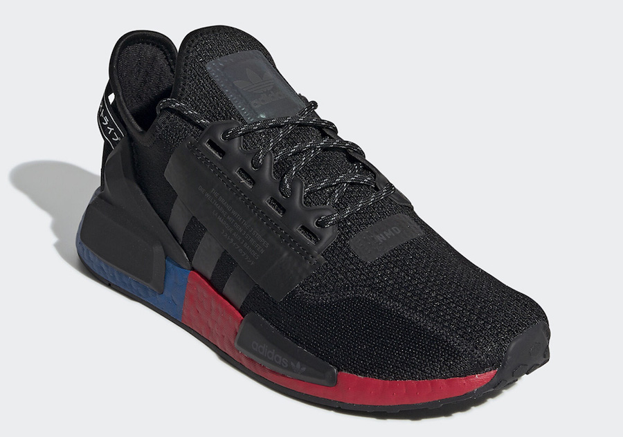 Adidas Nmd V2 Black Blue Red Fv9023 Release Date Info Sneakerfiles
