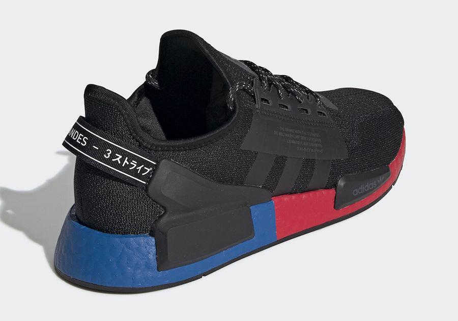 adidas NMD V2 Black Blue Red FV9023 Release Date Info
