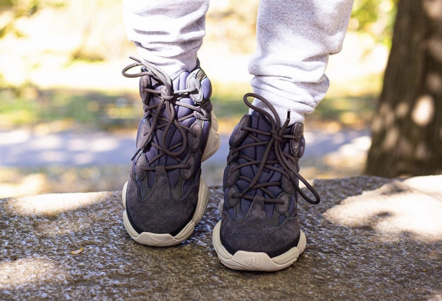adidas Yeezy 500 High Slate FW4968 On Feet