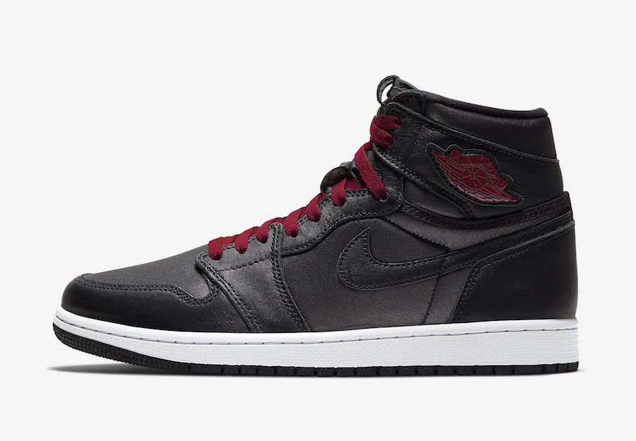 Air Jordan 1 Black Satin Gym Red 555088-060