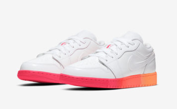 Air Jordan 1 Low GS White Crimson Mango 554723-100 Release Date Info