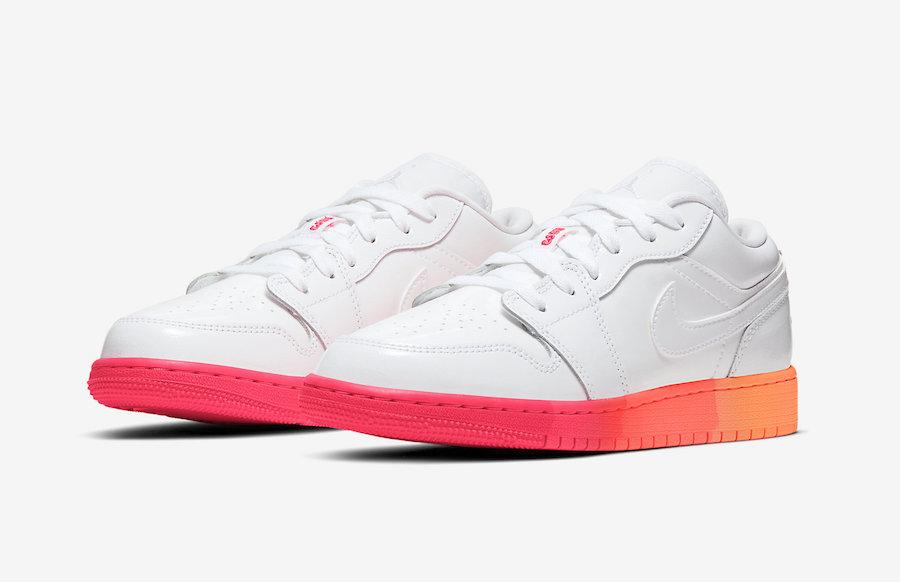 Air Jordan 1 Low GS White Crimson Mango 554723-100 Release Date Info