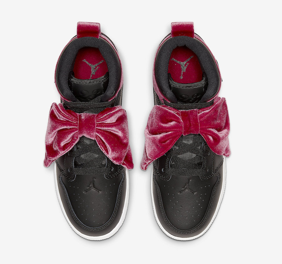 Air Jordan 1 Mid Bow Black Noble Red CK5678-006 Release Date Info