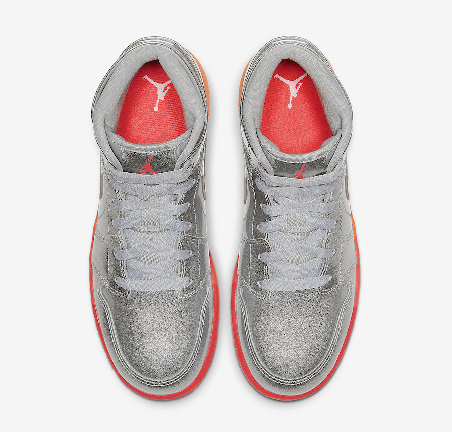 Air Jordan 1 Mid Metallic Silver Racer Pink Hot Punch 555112-006 Release Date Info