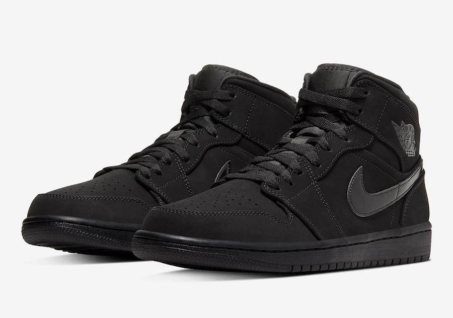 Air Jordan 1 Mid Triple Black 554724-056 Release Date Info