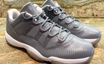 Air Jordan 11 Low Carbon Fiber Cool Grey Sample